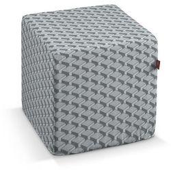 Dekoria  pufa kostka twarda, szaro-grafitowe wzory geometryczne, 40x40x40 cm, rustica