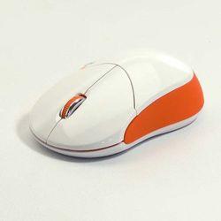 Mysz Logo Fun, optyczna,bezprzewodowa, biało-pomarańczowa Darmowy odbiór w 20 miastach! - produkt z kategorii- Myszy, trackballe i wskaźniki