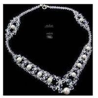 Arande Swarovski naszyjnik crystal pearl srebro ślub