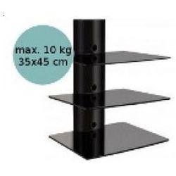 Art D-51 - panel cienny z 3 płkami pod sprzt, czarny - oferta [05b649702745a4e7]