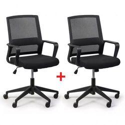 Krzesło biurowe Low 1 + 1 GRATIS, czarny