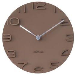 Karlsson:: Zegar ścienny On The Edge Brown, kolor brązowy