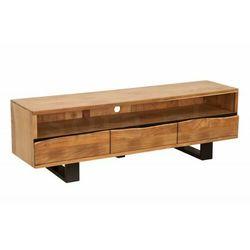 INVICTA szafka pod telewizor MAMMUT -160 cm akacja, drewno naturalne, metal