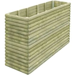 Vidaxl Skrzynia ogrodowa z impregnowanego drewna, 197x56x96 cm