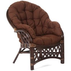 Fotel ogrodowy rattanowy Diego Brown (5902425326152)