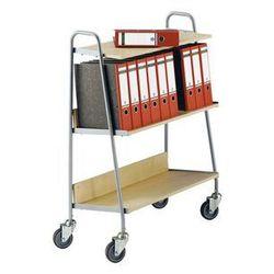 Wózek na segregatory z 2 półkami,dł. x szer. x wys. 850 x 350 x 1070 mm