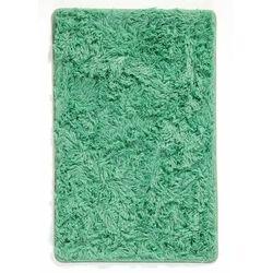 Bonprix Dywaniki łazienkowe ze sztucznym futerkiem i pianką memory zielony