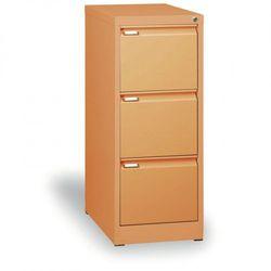 B2b partner Szafa kartotekowa a4, 3 szuflady, cała pomarańczowa, wys. 1320 mm