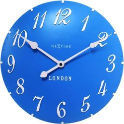 Zegar ścienny Nextime London Arabic niebieski, kolor niebieski