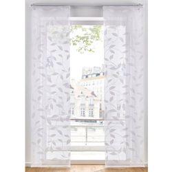 Firana panelowa z nadrukiem w liście (1 szt.) bonprix biały, kolor biały