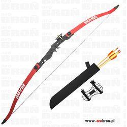 Mankung Łuk sportowy eraser beetle red czerwony + kołczan i strzały łuk klasyczny