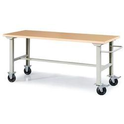Mobilny stół warsztatowy robust, 2000x800 mm, wzmacniany blat marki Aj produkty