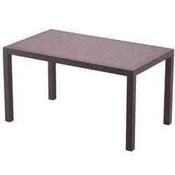 Stół ogrodowy na taras z polyrattanu Orlando 140 Siesta brązowy