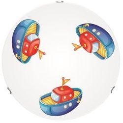 Lampa dla dziecka Łódka - plafon Boat biały/ chrom LED 15W 40cm (5902166902783)