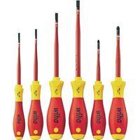 zestaw wkrętaków softfinish electric slimfix płaskich/ pozidriv, 6 sztuk 36455 marki Wiha