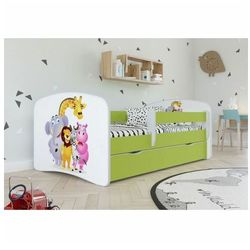 Producent: elior Łóżko dla dziecka z materacem happy 2x mix 80x160 - zielone