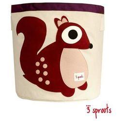 3 SPROUTS Kosz na zabawki/pranie - Wiewiórka