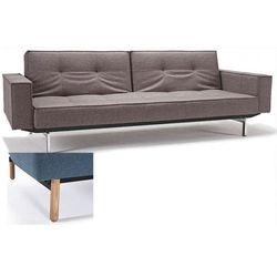 INNOVATION iStyle Sofa Splitback z podłokietnikami szarobeżowa 521 nogi jasne drewno Stem - 741010020521-741007020-11-1-2 z kategorii Sofy