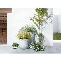 Beliani Doniczka biała - ogrodowa - balkonowa - ozdobna - 30x30x60 cm - onega