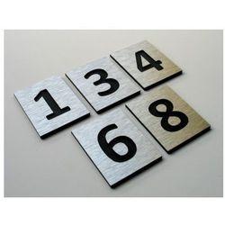 Numer, Numery Grawerowane na Drzwi z aluminium C1, towar z kategorii: Akcesoria do drzwi