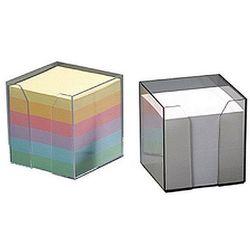 Pojemnik kubik przezroczysty z kolorowymi kartkami 85x85x85mm Datura