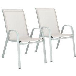 Krzesło ogrodowe 2szt. stalowe na balkon, tarasowe szary
