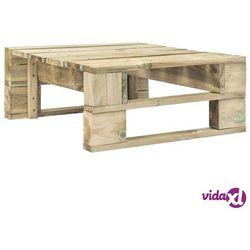 vidaXL Stołek ogrodowy z palet, drewno FSC, zielony (8718475714231)