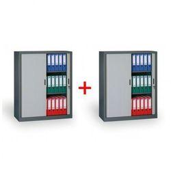 B2b partner Szafa metalowa z żaluzjowymi drzwiami 1+1 gratis, 1200x1200x450 mm