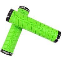 LZS-LOLDS700 Chwyty kierownicy Lizard Skins LOGO LOCK ON 30,5x130 mm, zielone, klamry czarne