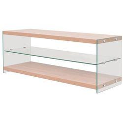 vidaXL Szafka pod telewizor, szkło, MDF, kolor dębowy (8718475571360)