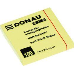 Donau Bloczek 76x76 mm  eco żółty 100 kartek samoprzylepny - x06819