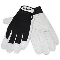 Rękawice ochronne DEDRA Czarno-biały (rozmiar 9)