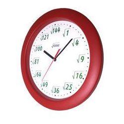 Zegar ścienny pod pierwiastkiem bordo marki Atrix
