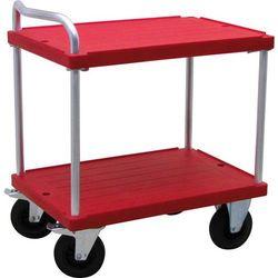 Wózek stołowy do dużych obciążeń, dł. x szer. 900x600 mm, nośność 500 kg, czerwo