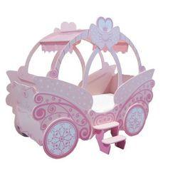 Łóżko princesse - 90 × 190 cm - różowy marki Vente-unique