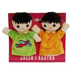 AXIOM Pacynki Jacek i Agatka 22cm - produkt z kategorii- pacynki i kukiełki