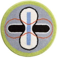 Grund Dywanik łazienkowy Karim 01, niebieski, Ø80 cm