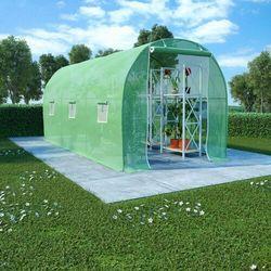 VidaXL Szklarnia ogrodowa, stalowa konstrukcja, 9 m², 4,5x2x2 m (8719883796260)