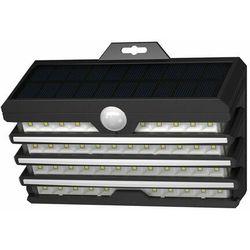 Baseus 1x zewnętrzna ogrodowa uliczna solarna lampa LED z czujnikiem ruchu czarny (DGNEN-C01) - Czarny