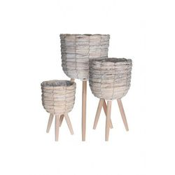 Donice drewniane 3szt. 9340CH