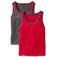 Koszulka bez rękawów (2 szt.) bonprix czerwony + szary, kolor wielokolorowy