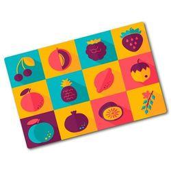 Deska kuchenna duża szklana Ikony owoców
