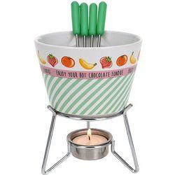 Eh excellent houseware Ceramiczny zestaw do czekoladowego fondue dla 4 osób (5902891244332)