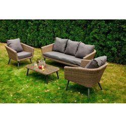 Bello giardino Nowoczesne meble z technorattanu antico sofa 3 osobowa