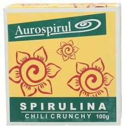 Spirulina chili crunchy 100g Aurospirul - produkt z kategorii- Płatki, musli i otręby