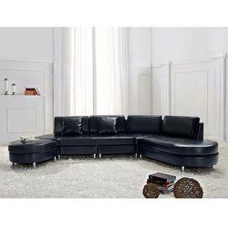 Sofa czarna skórzana COPENHAGEN (7081451214904)