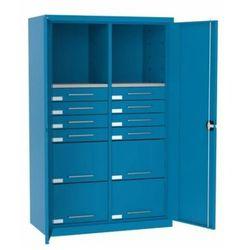 Malow Szafa warsztatowa metalowa 2 półki 12 szuflad z drzwiami sl 165.15