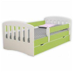 Łóżko dla dziecka z barierką Pinokio 2X 80x160 - zielone, Kocot-łóżko-1-classic-zielone