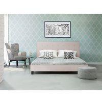 Łóżko beżowe - 180x200 cm - łóżko tapicerowane - stelaż - LA ROCHELLE