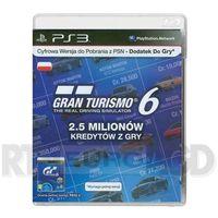 Sony  gran turismo 6 - 2,5 miliona kredytów - produkt w magazynie - szybka wysyłka!